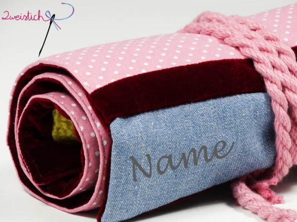 Rollmäppchen ROSA mit Namen
