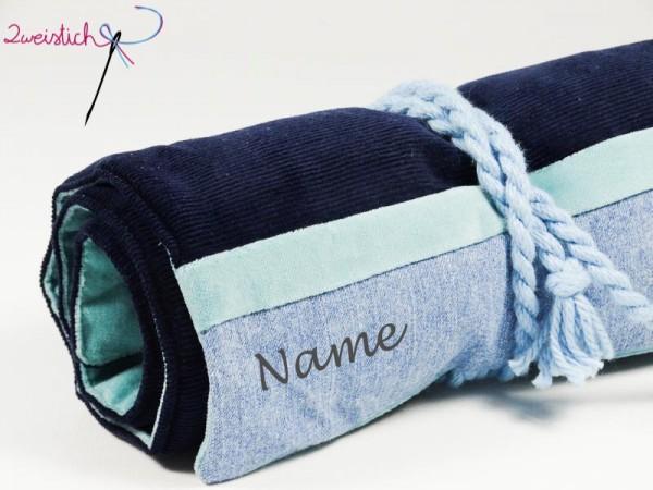 Rollmäppchen KORD dunkelblau mit Namen